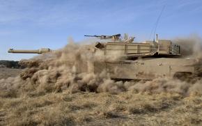 Wallpaper abrams, usa, tank, military equipment