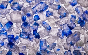 Picture macro, background, blue, salt, Persian