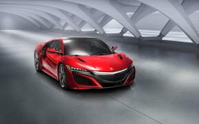 Picture Red, Car, Front, Acura, NSX, 2015, Ligth