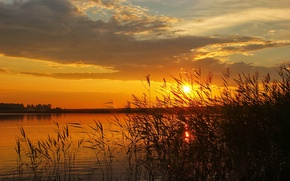 Picture the sun, nature, dawn, photo, the sky, river, landscape, sunset