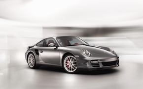 Wallpaper Turbo, grey, Porshe