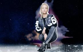 Picture clothing, blonde, costume, photoshoot, Adidas, brand, Rita Ora, Rita Ora, Originals