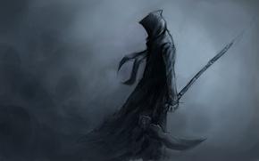 Picture death, background, art, hood, braid