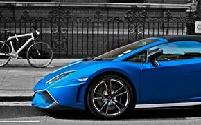 Picture Lamborghini, gallardo, blue, LP570-4, matte, performante