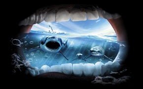 Picture the ocean, horror, sharks, Creek