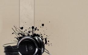 Picture background, blot, Headphones