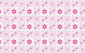 Picture flowers, background, texture, art, pink, box