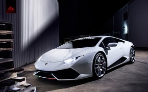 Picture Lamborghini, White, Huracan, LP610