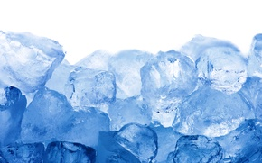 Wallpaper ice, cubes, ice, blue, cubes