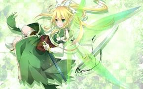 Wallpaper fairy, alo, alfheim online, sword, girl, katana, sword art online, wings, leafa, toutenkou, the bodice, ...