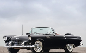 Wallpaper Black, Ford, Thunderbird