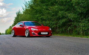 Picture Red, Car, Sport, Summer, Road, FR-S, Scion