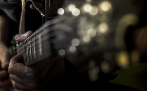 Picture music, guitar, hand