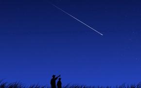 Picture night, vector, Comet