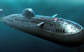 Wallpaper Submarine, Russia, Pike
