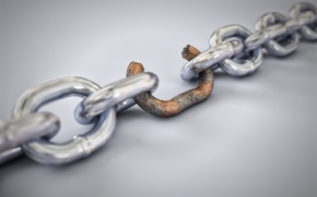 Picture rust, chain, weak link