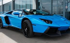 Picture Lamborghini, Blue, Aventador, Novitec, Torado