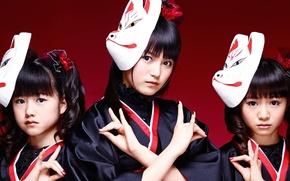Picture kawaii, music, metal, red, rock, flower, fox, model, pretty, singer, ninja, asian, pose, mask, Idol, …