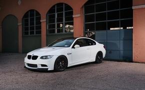 Picture white, reflection, black, bmw, BMW, coupe, white, drives, e92