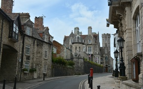 Picture road, street, building, UK, architecture, road, street, England, architecture, town, old city, Swanage, Swanage