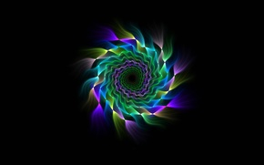Picture rays, pattern, color, spiral, fractal, symmetry