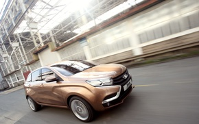 Picture road, the concept, car, Lada, Lada, crossover, X-ray, Rengen