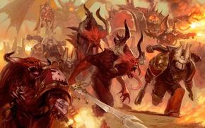 Picture Chaos, Warhammer 40000, Chaos, Warhammer 40K, Khorne Berserker, Khorne Demons