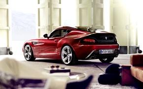 Picture Red, Machine, Garage, Car, 2012, Car, Bmw, Wallpapers, BMW, Zagato, Zagato, Wallpaper, Garage