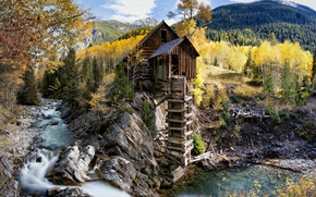 Wallpaper United States, Colorado, Crystal Mill