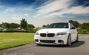 Picture white, M-pack, agforged, BMW 5-Series