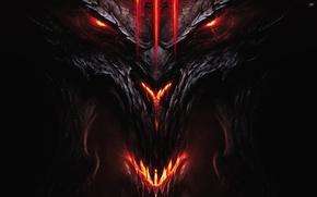 Picture demon, Devil, Diablo 3, Diablo III, face and head