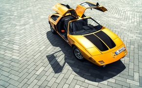Picture Mercedes-Benz, pavers, yellow, doors gull wing, C111 Prototype
