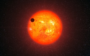 Picture star, planet, GJ 1214b