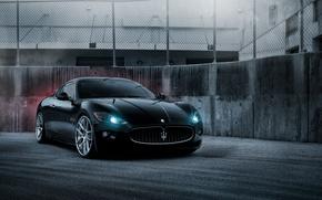Wallpaper black, Maserati, black, GranTurismo, Maserati, Gran Turismo