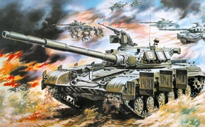 Picture machine, machine, attack, art, soldiers, tanks, weapons, combat, it, for, helicopters, combat, has, hit, designed, …