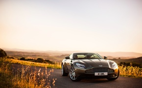 Picture road, the sky, Aston Martin, supercar, supercar, road, the front, DB11