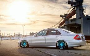 Picture silver, Mercedes, wheels, Mercedes, metallic, e350