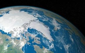 Picture space, landscape, earth, planet