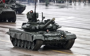 Picture power, tank, Russia, armor, military equipment, T-90A