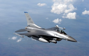Wallpaper Military, Fighting, Flight, The sky, Aviation, Multipurpose, Clouds, F-16, Falcon, Height, Fighter