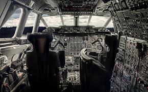 "Picture aviation, devices, cabin, the plane, ""Concord"""