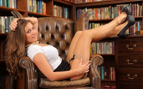 Wallpaper girl, stockings, legs, cute
