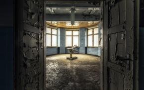 Picture door, office, entrance