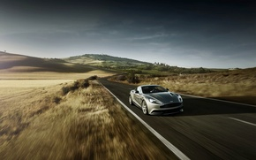 Picture Aston Martin, Road, Machine, Vanquish, Suite, The front, AM310, In motion