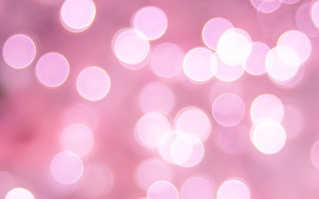 Picture circles, pink, bokeh