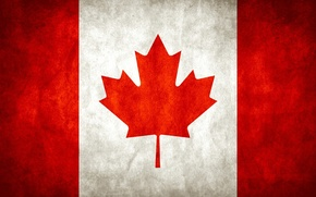 Wallpaper Maple, Flag, Canada