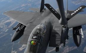 Picture fighter, Eagle, flight, refueling, F-15E, McDonnell Douglas