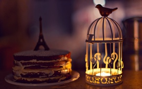 Picture background, widescreen, bird, Wallpaper, mood, Eiffel tower, candle, cell, flashlight, lantern, cake, wallpaper, figurine, bird, …