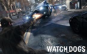 Picture gun, street, Ubisoft, Aiden Pearce, watch dogs