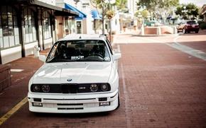 Picture BMW, White, E30, 3 Series, Macro